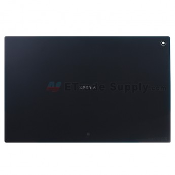 For Sony Xperia Tablet Z Battery Door Replacement - Black - Grade S+