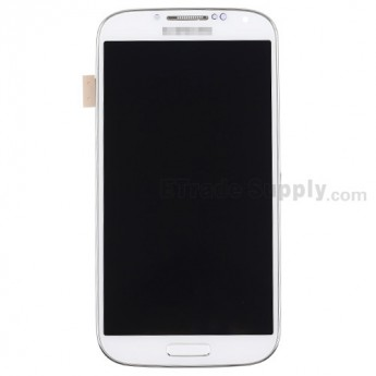 For Samsung Galaxy S4 SGH-M919/SGH-I337 LCD Screen and Digitizer Assembly with Front Housing Replacement - White - Grade S+