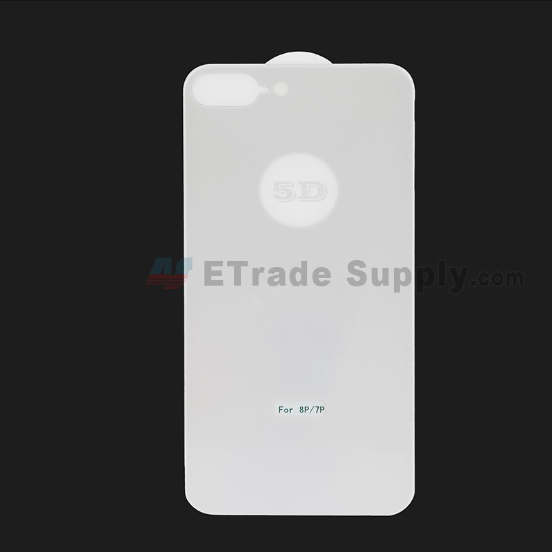 new products 7ed4a 94ccf For Apple iPhone 7 Plus / iPhone 8 Plus Rear Housing Tempered Glass Screen  Protector - Silver - Grade R