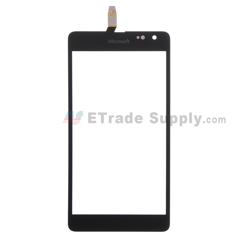 6af85dc75da Microsoft Lumia 535 Dual SIM Digitizer Touch Screen Panel Black - ETrade  Supply