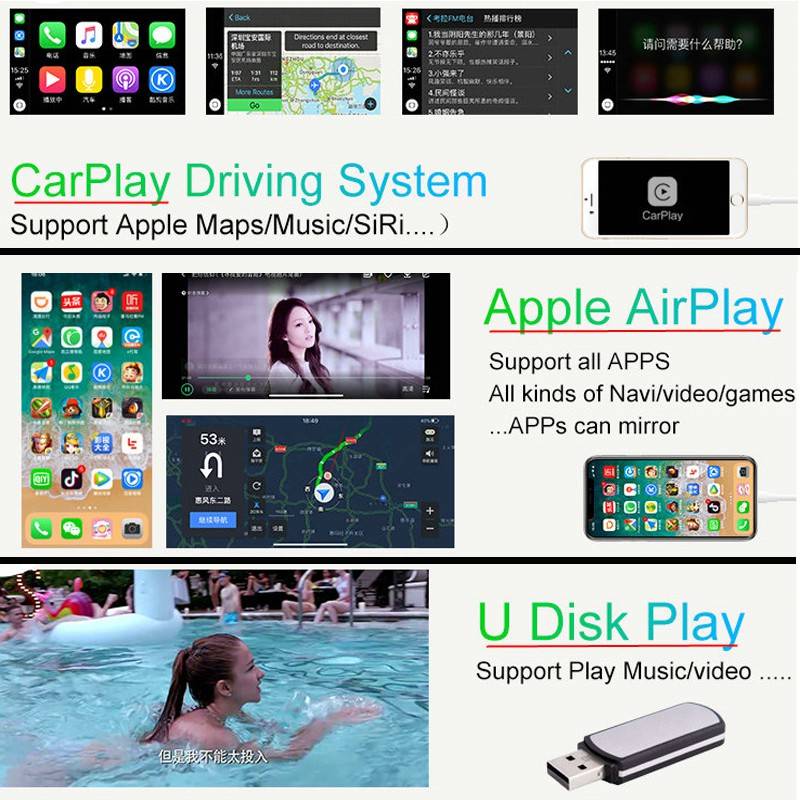 IOS Car Mirrorlink Apple Airplay Wireless Android Auto