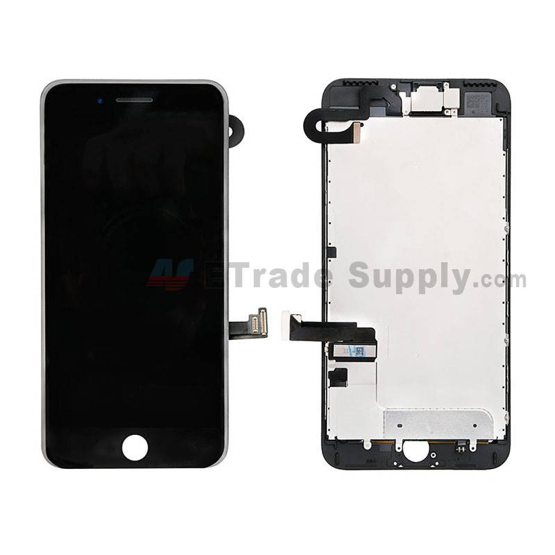 the best attitude 6c305 6b133 For Apple iPhone 7 Plus LCD Screen and Digitizer Assembly with Frame and  Small Parts Replacement (Without Home Button) - Black - Grade S+