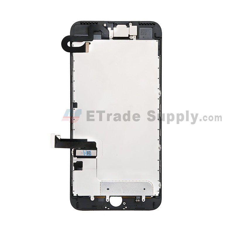 the best attitude 63bcd a8e77 For Apple iPhone 7 Plus LCD Screen and Digitizer Assembly with Frame and  Small Parts Replacement (Without Home Button) - Black - Grade S+