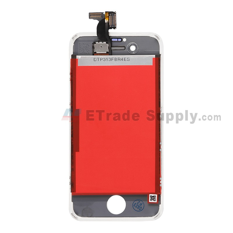 ... For Apple iPhone 4S LCD Screen and Digitizer Assembly with Frame  Replacement - White - Grade ... 09051b51a1