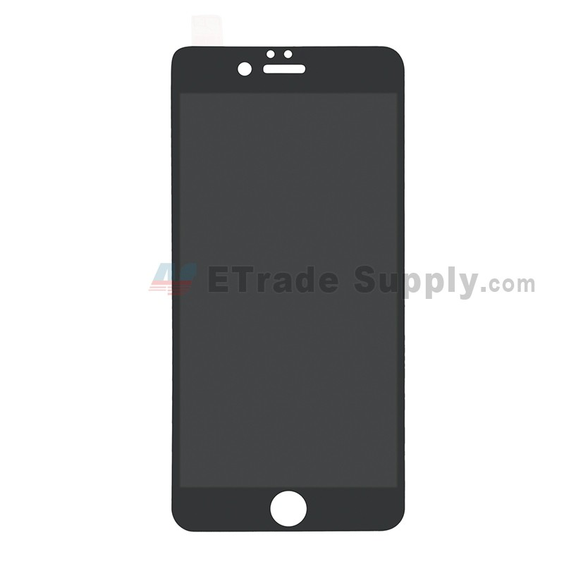 competitive price f5f79 ede99 For Apple iPhone 6/6S Tempered Glass Screen Protector Without Package  (Screen printing full screen anti-peeping) - Black - Grade R