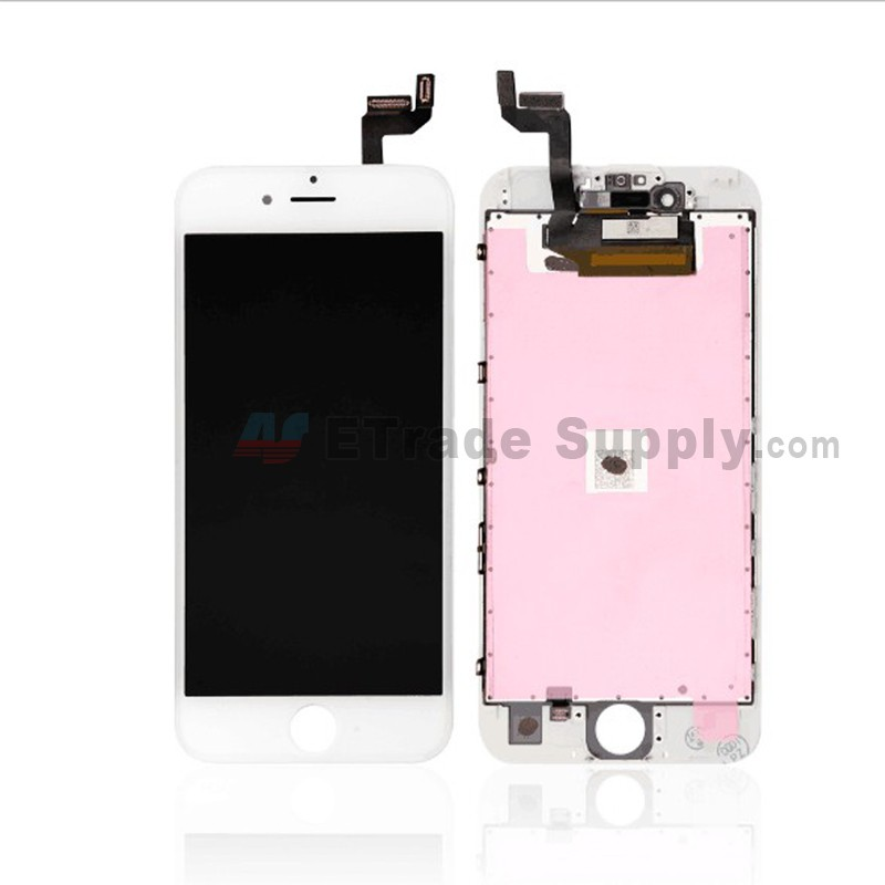 san francisco 246f1 960cc For Apple iPhone 6S LCD Screen and Digitizer Assembly with Frame  Replacement - White - Grade S