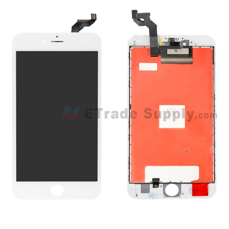 sports shoes 69c09 ae75a For Apple iPhone 6S Plus LCD Screen and Digitizer Assembly with Frame  Replacement - White - Grade R