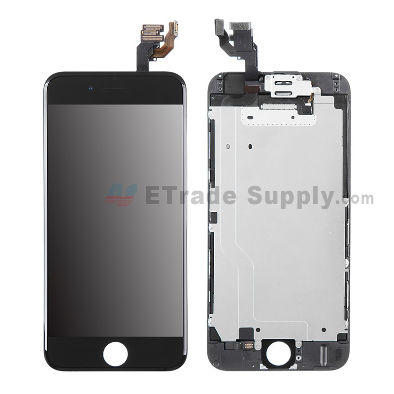 3d6ddf0e4f6f3e For Apple iPhone 6 LCD Digitizer Assembly with Frame and Small Parts  Replacement (Without Home
