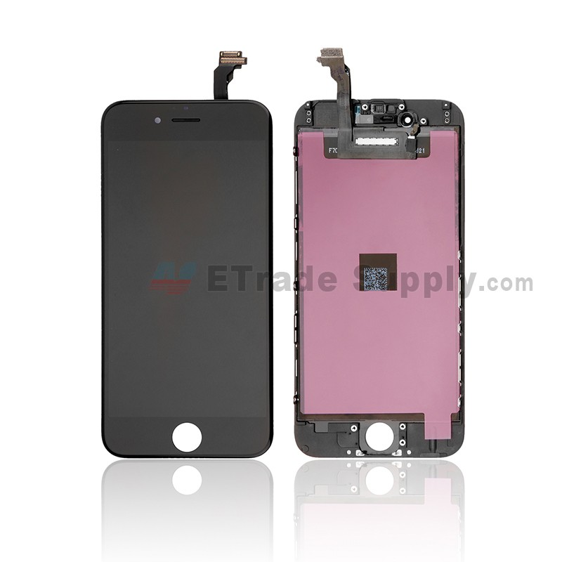 d2e977eb79e886 For Apple iPhone 6 LCD Screen and Digitizer Assembly with Frame Replacement  - Black - Grade