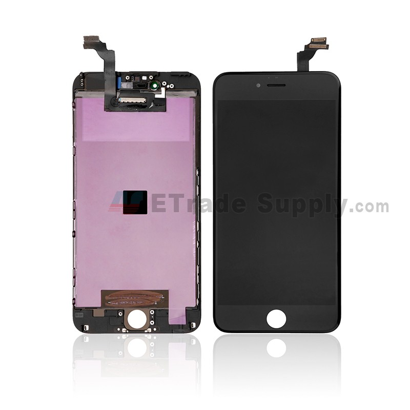 watch 26f68 803dd For Apple iPhone 6 Plus LCD Screen and Digitizer Assembly with Frame  Replacement - Black - Grade S+