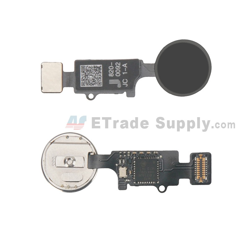 new products 043bc c1f84 For Apple iPhone 7/7 Plus/8/8 Plus Universal Home Button Replacement (1st  Gen) - Black - Grade R