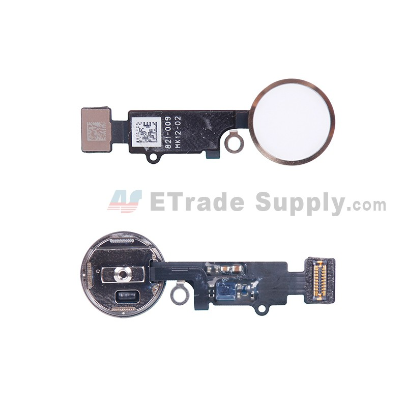 half off 57156 3270c For Apple iPhone 7/7 Plus Home Button Assembly with Flex Cable Ribbon  Replacement - Gold - Grade R