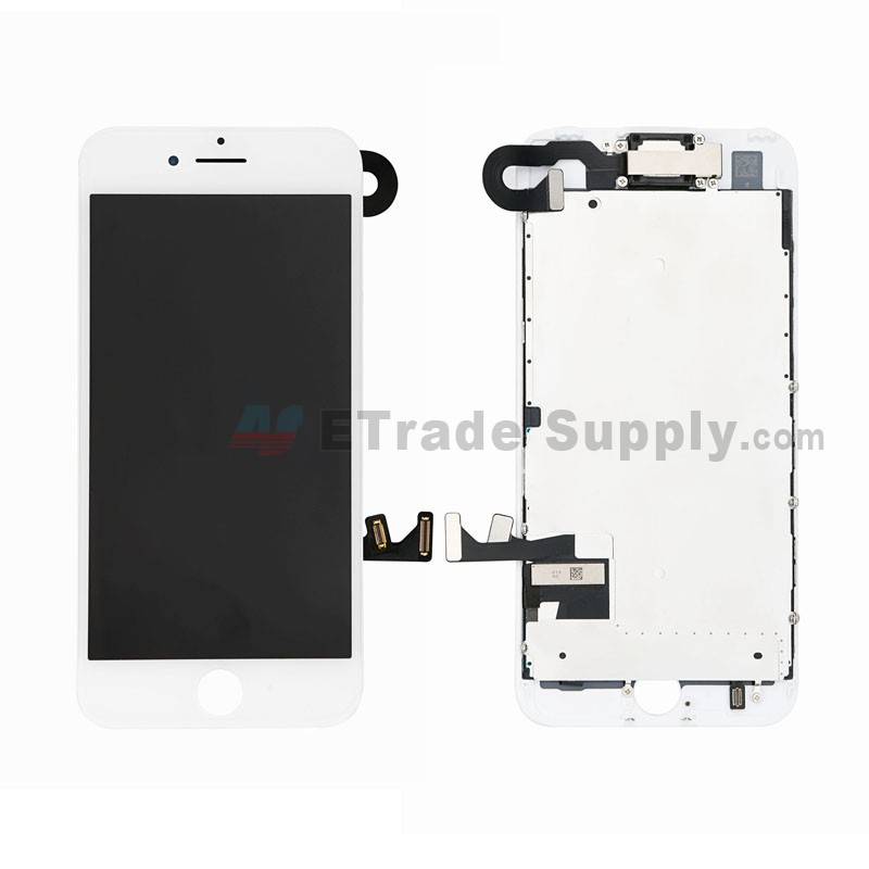 detailed look b3140 bb843 For Apple iPhone 7 LCD Screen and Digitizer Assembly with Frame and Small  Parts Replacement (Without Home Button) - White - Grade S+