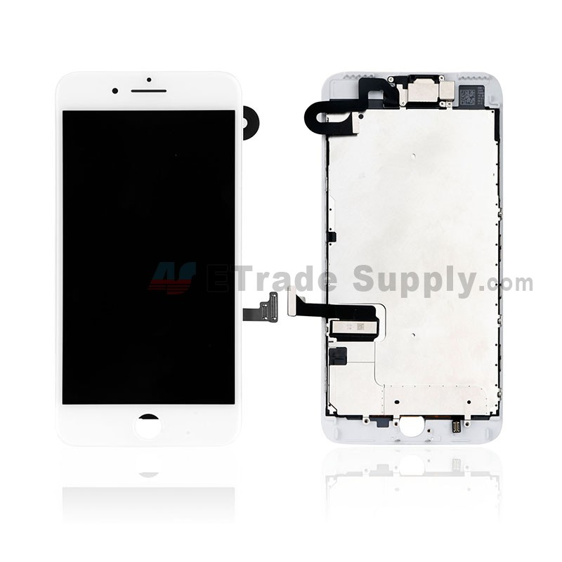 newest collection 3eabe cbeba For Apple iPhone 7 Plus LCD Screen and Digitizer Assembly With Frame and  Small Parts Replacement (Without Home Button) - White - Grade S+