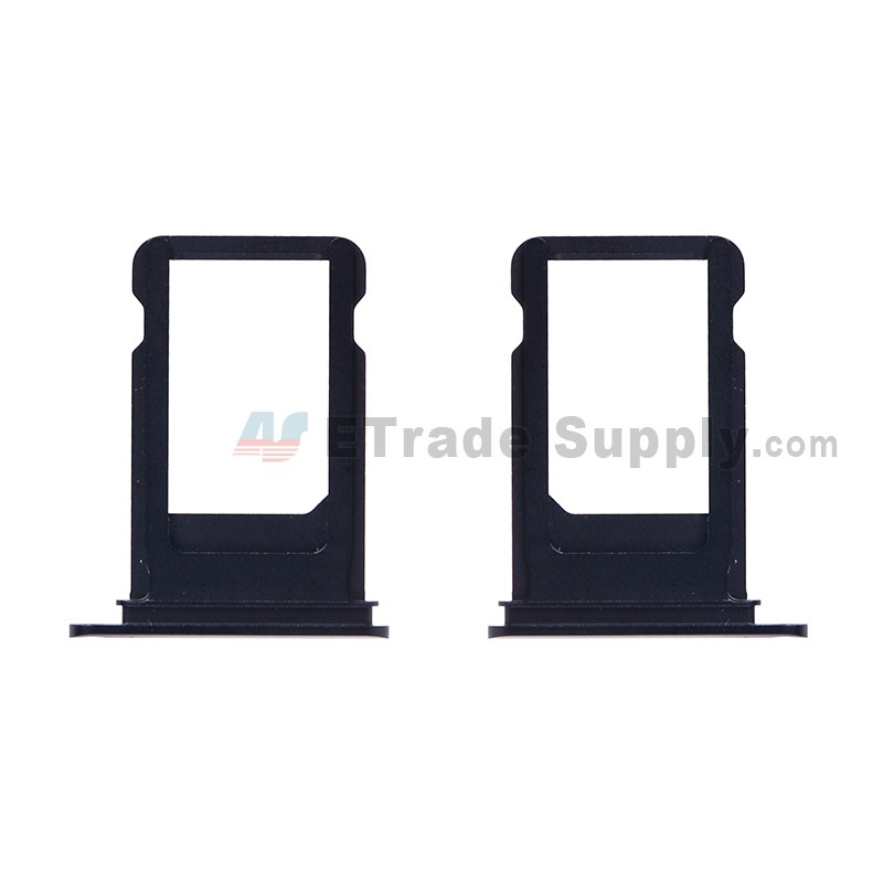 For Apple Iphone 7 Sim Card Tray Replacement Neon Black Grade S