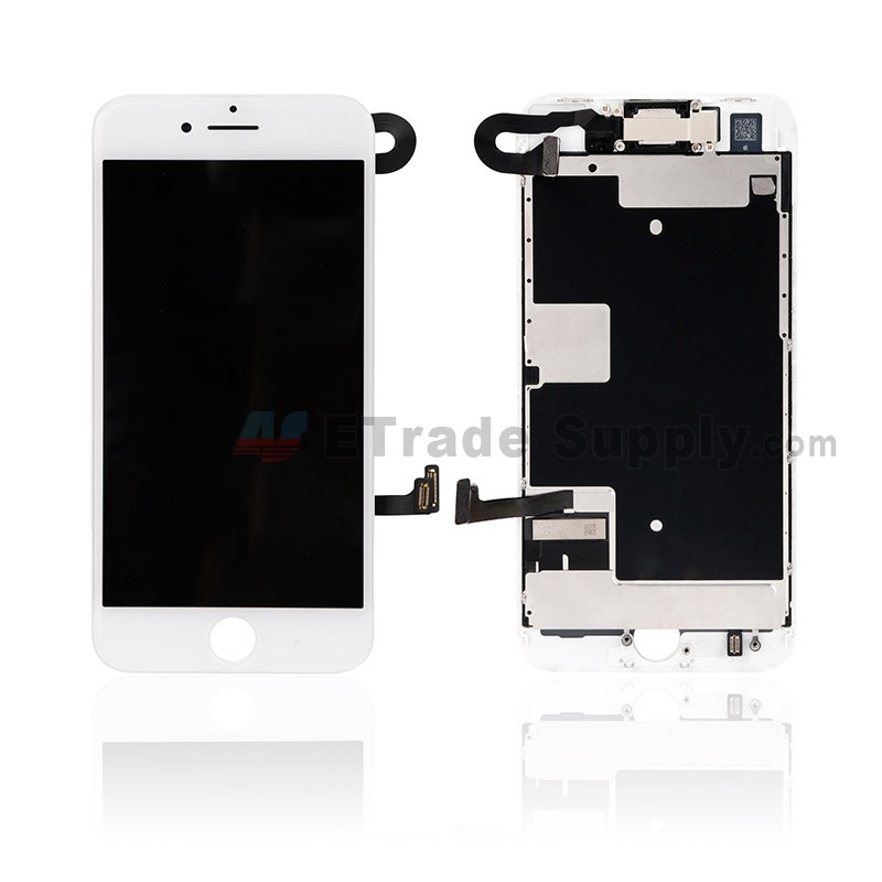 san francisco d389a 3ce2b For Apple iPhone 8 LCD Assembly with Frame and Small Parts Replacement (No  Home Button and With Auto Brightness Function) - White - Grade S+