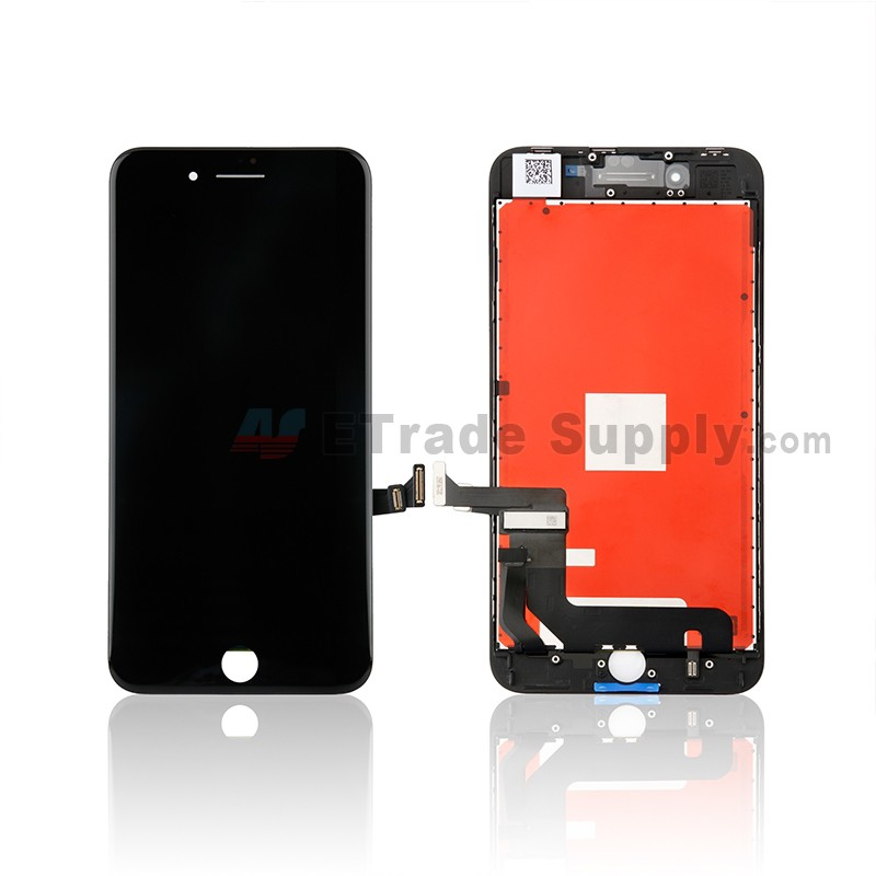 wholesale dealer 581e1 6cf88 For Apple iPhone 8 Plus LCD Screen and Digitizer Assembly with Frame  Replacement - Black - Grade S+