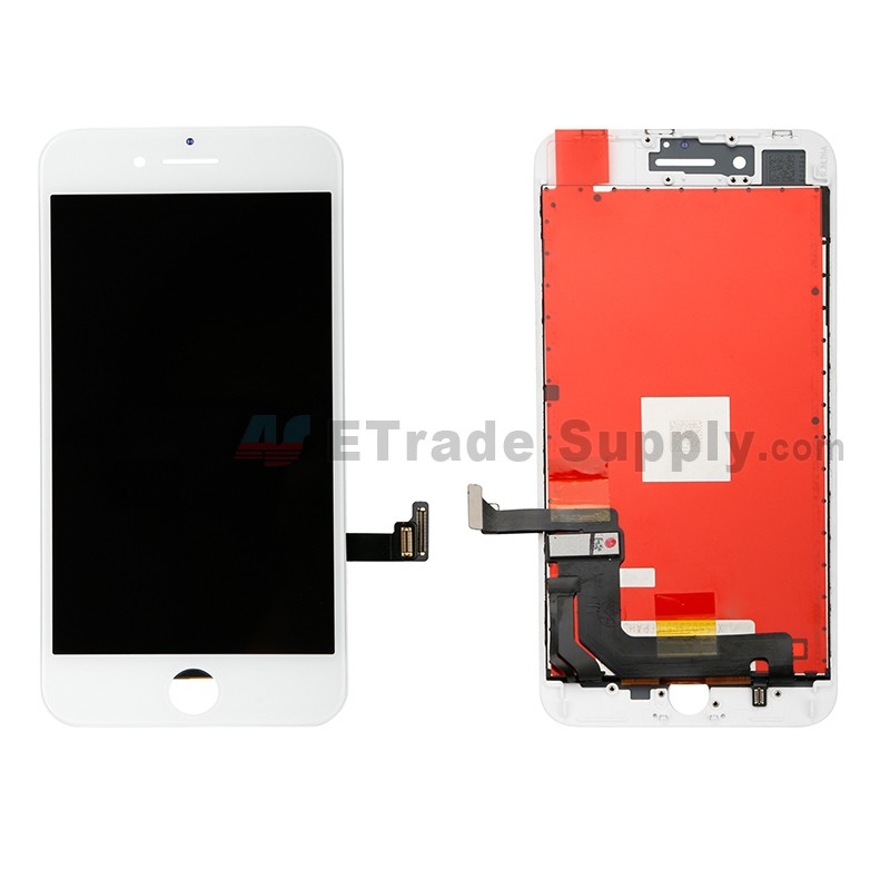 free shipping 3088a 2c7dd For Apple iPhone 8 Plus LCD Screen and Digitizer Assembly with Frame  Replacement - White - Grade R