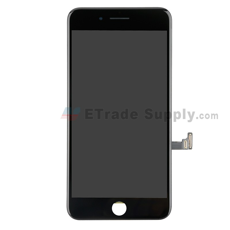 best service 051f5 b314f For Apple iPhone 8 Plus LCD Assembly with Frame and Small Parts Replacement  (No Home Button and With Auto Brightness Function) - Black - Grade R