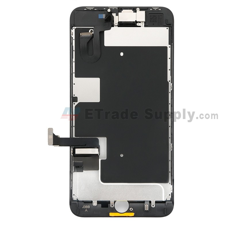 best service d18f6 b9f21 For Apple iPhone 8 Plus LCD Assembly with Frame and Small Parts Replacement  (No Home Button and With Auto Brightness Function) - Black - Grade R