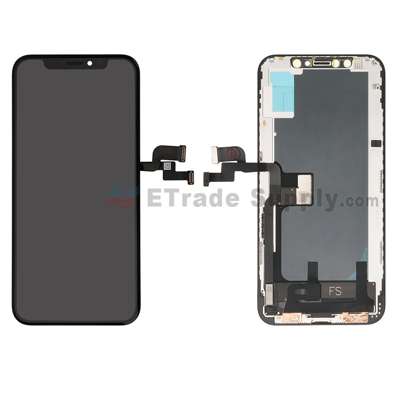 pretty nice 3d673 e9cee For Apple iPhone XS LCD Screen and Digitizer Assembly with Frame  Replacement - Black - Grade S+
