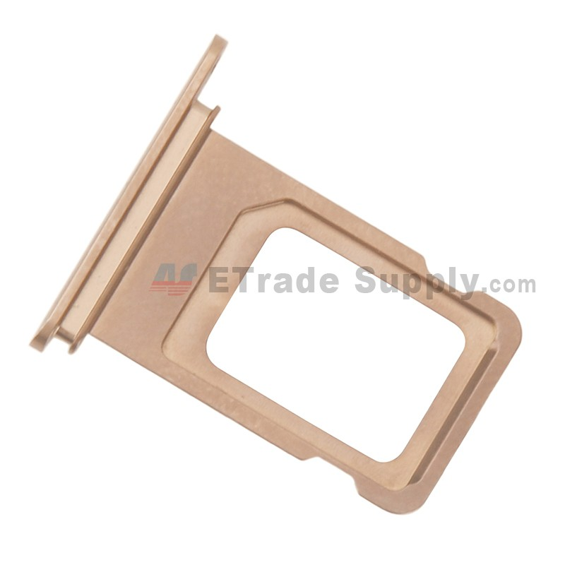 pick up 9031a 65617 For Apple iPhone XS Max SIM Card Tray Replacement (Double SIM Card) - Gold  - Grade S+