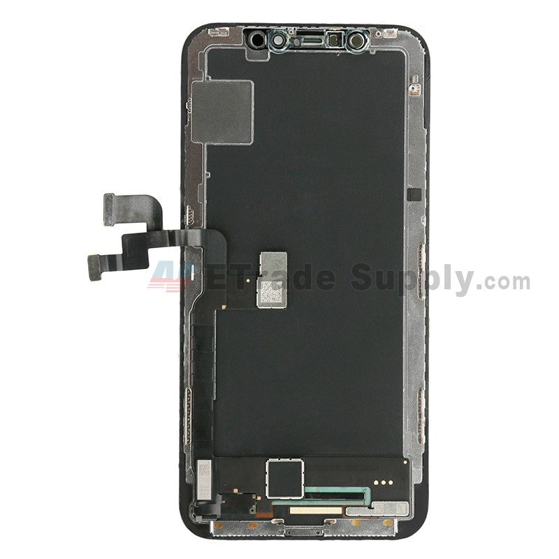 new arrival 3aac1 4dd2b For Apple iPhone X LCD Screen and Digitizer Assembly with Frame Replacement  - Black - Grade S+