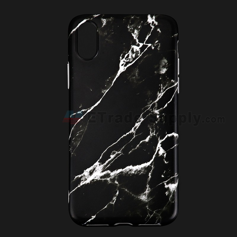 For Apple iPhone X Protective Case Replacement (Marble Black) - Grade R (0 b58708dfb5