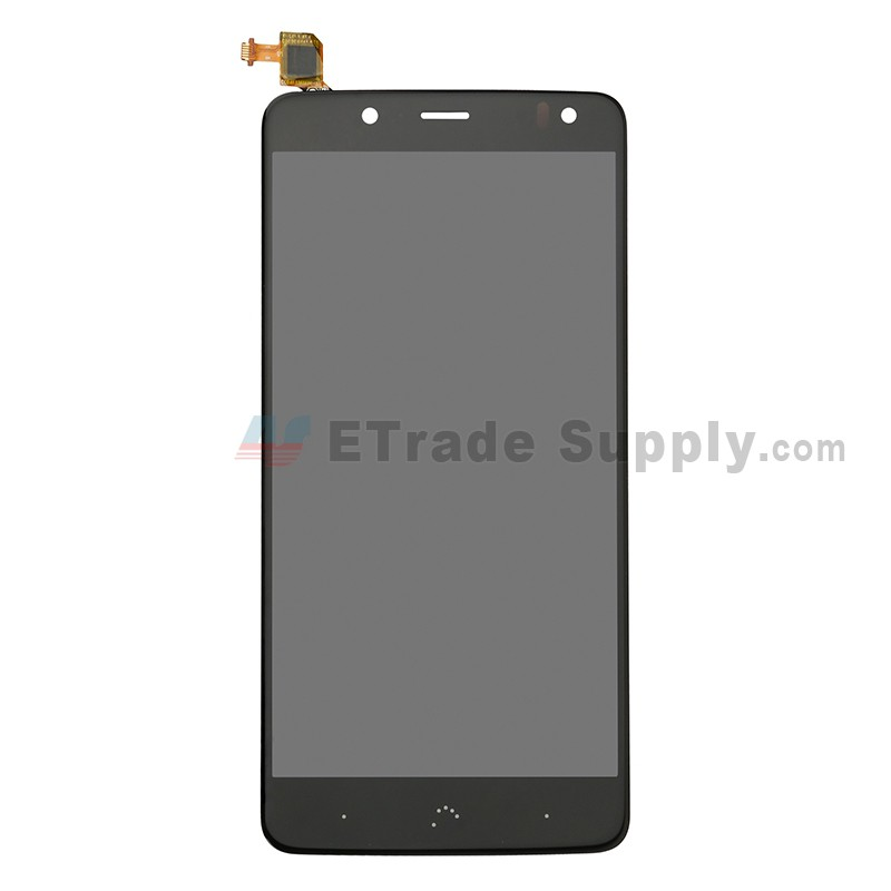 For BQ Aquaris V Plus LCD Screen and Digitizer Assembly Replacement - Black  - Grade S+