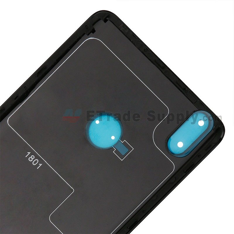 For BQ Aquaris X Pro Battery Door Replacement - Black - Grade S+