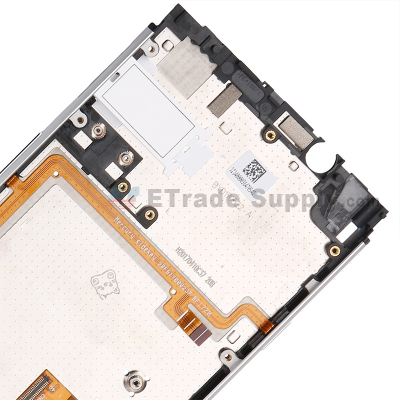 Silver MTE AYSMG for BlackBerry Keyone LCD Screen Digitizer Full Assembly Frame Color : Silver