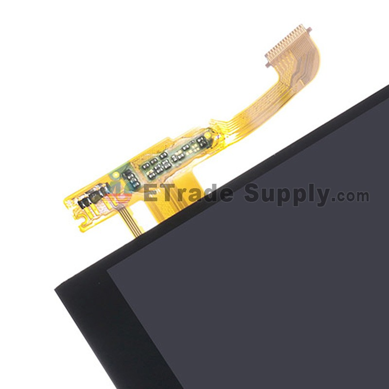 For HTC One M8 LCD Screen and Digitizer Assembly Replacement - Black - With  Logo - Grade S+