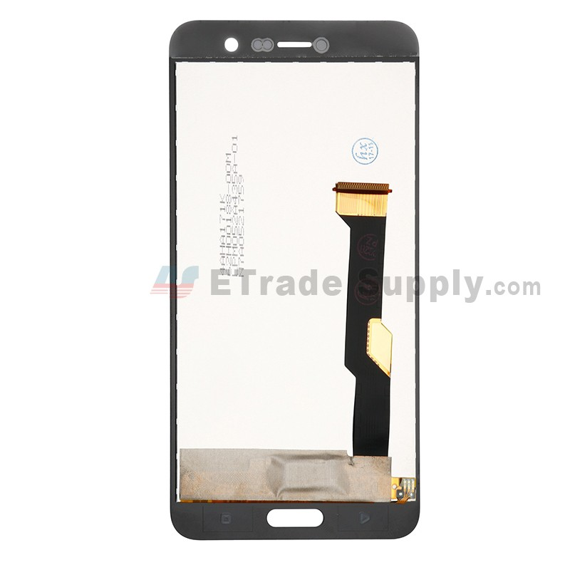 Black LIYUNSHU LCD Screen and Digitizer Full Assembly for HTC U11+ Color : Black