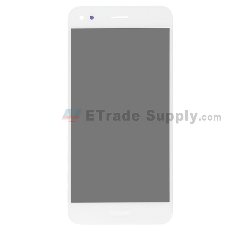 For Huawei Y6 Pro 2017 LCD Screen and Digitizer Assembly Replacement -  White - With Logo - Grade S+