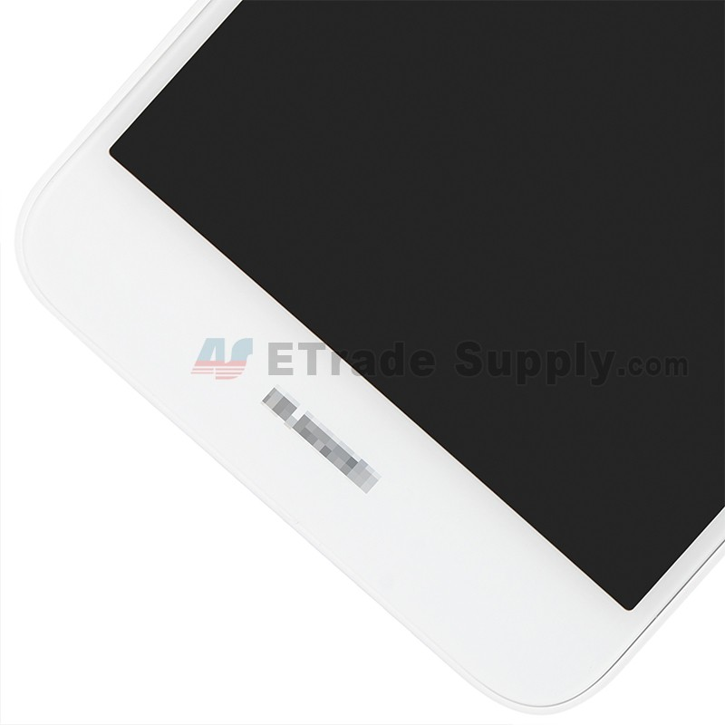 For Huawei Y7 2017 LCD Screen and Digitizer Assembly with Front Housing  Replacement - White - With Logo - Grade S+
