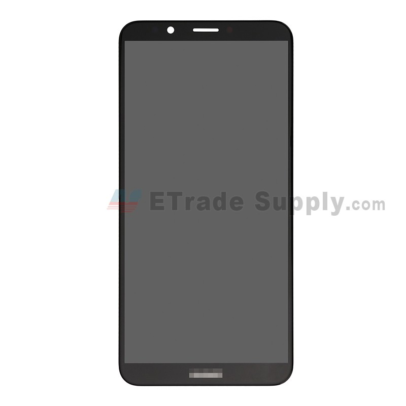 For Huawei Y7 Prime 2018 LCD Screen and Digitizer Assembly Replacement -  Black - With Logo - Grade S+