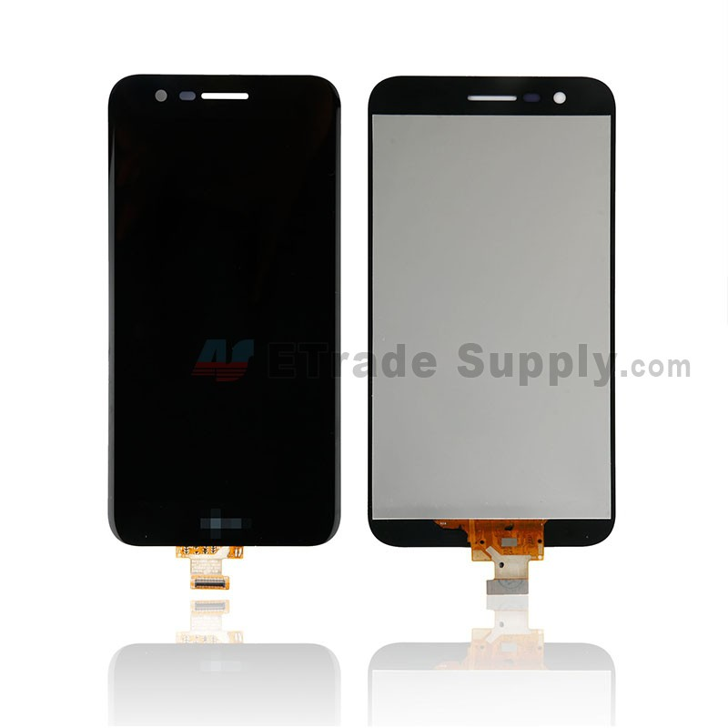 LG K10 (2017) LCD Screen and Digitizer Assembly - Black - With