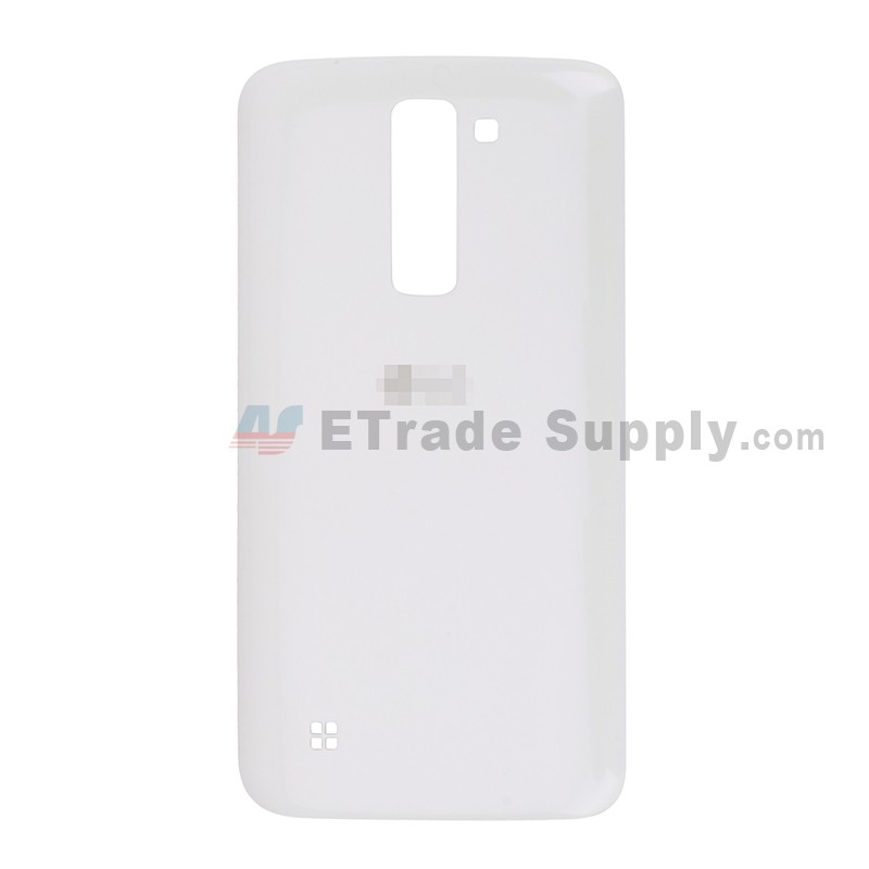 buy popular 1ae1c a0b51 For LG K7 Battery Door Replacement - White - With Logo - Grade S+