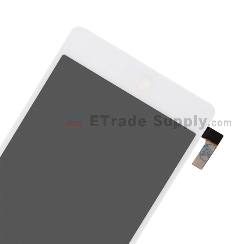 For LG Tribute HD LS676 LCD Screen and Digitizer Assembly Replacement -  White - With LG Logo - Grade S+