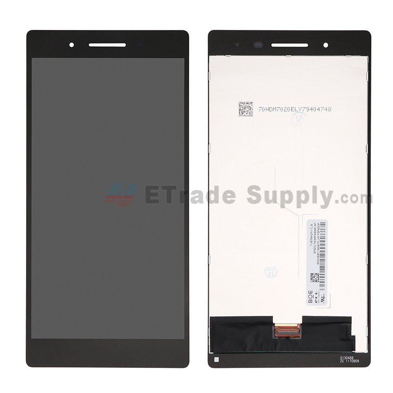 For Lenovo Tab 7 TB-7504X LCD Screen and Digitizer Assembly Replacement -  Black - Without Logo - Grade S+