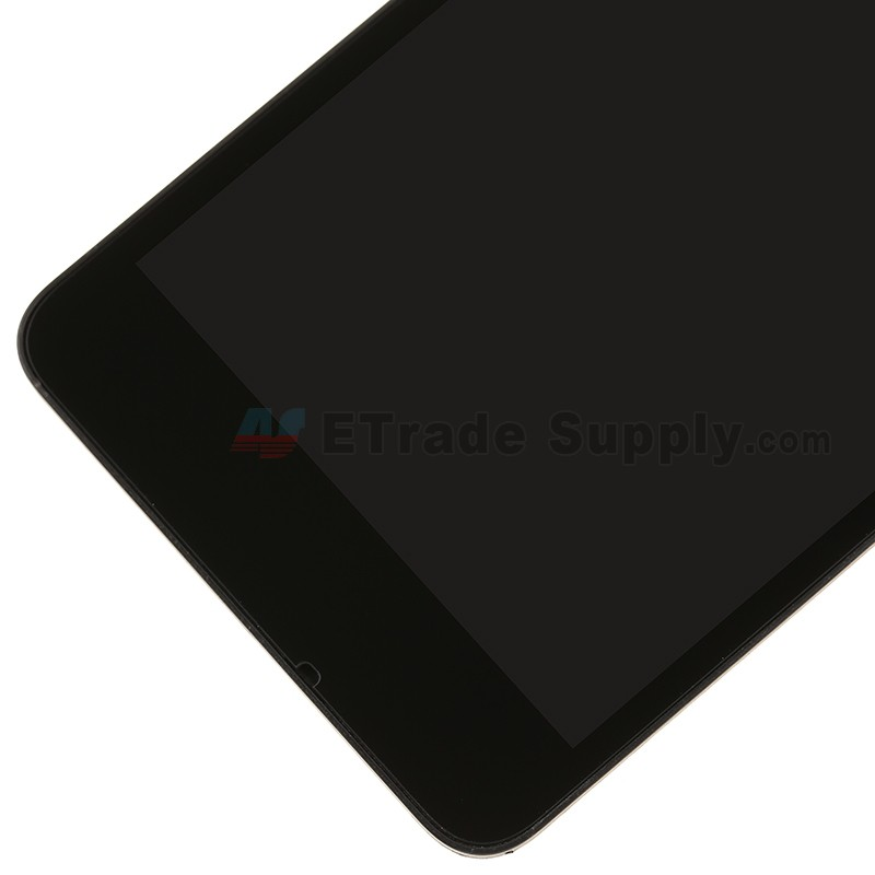 For Microsoft Lumia 550 LCD Screen and Digitizer Assembly with Front  Housing Replacement - Black - With Logo - Grade S+