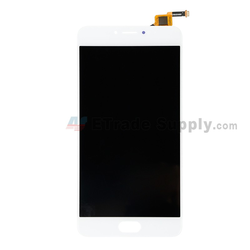 For Meizu M3 Note L681H LCD Screen and Digitizer Assembly Replacement -  White - Without Logo - Grade S+