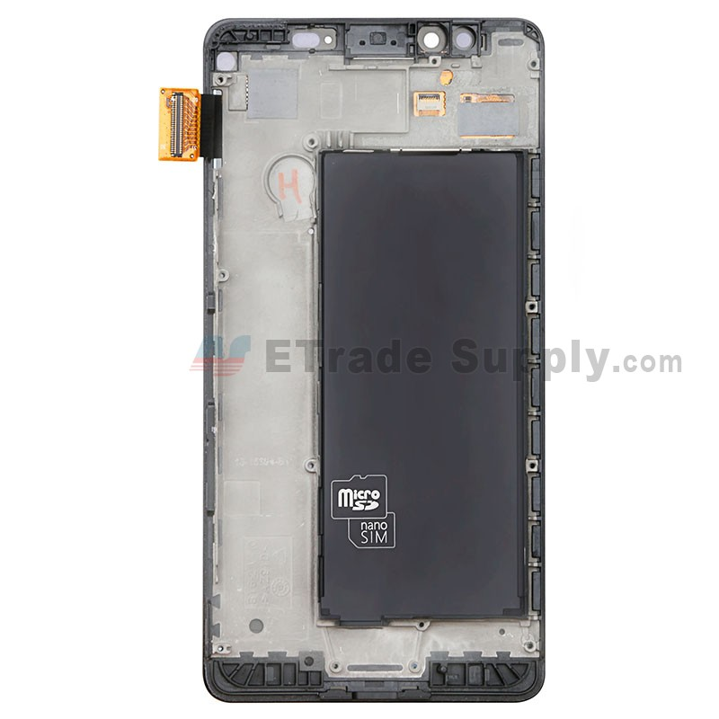 Color : Black LIYUNSHU LCD Screen and Digitizer Full Assembly with Frame for Microsoft Lumia 950 Black