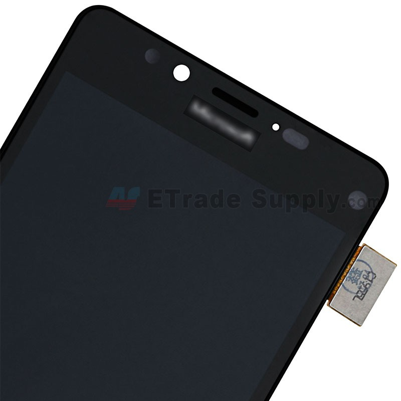 For Microsoft Lumia 950 LCD Screen and Digitizer Assembly with Front  Housing Replacement - Black - With Logo - Grade S+