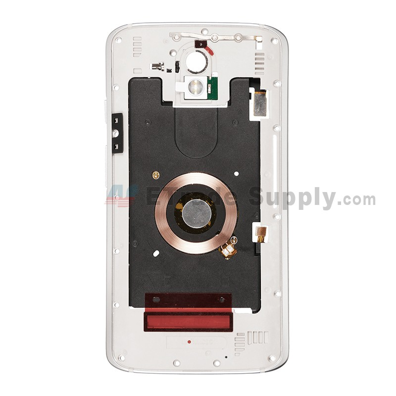 For Motorola Droid Turbo 2 XT1585 Rear Housing Replacement - White - Grade  S+