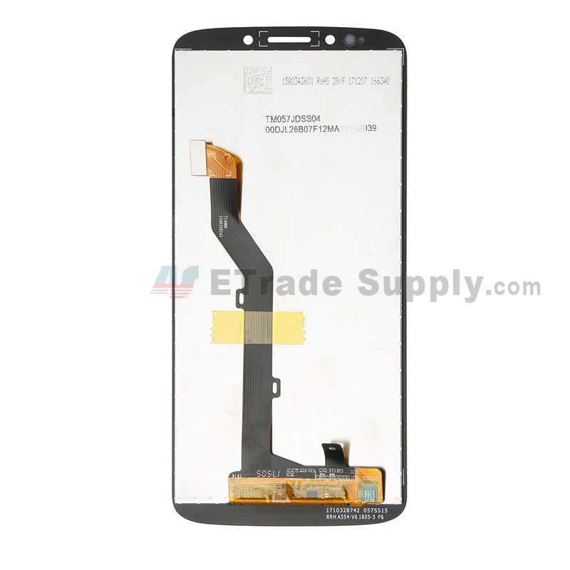 For Motorola Moto G6 Play XT1922 LCD Screen and Digitizer Assembly  Replacement - Black - With Logo - Grade S+
