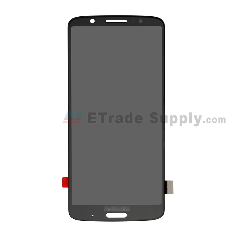 For Motorola Moto G6 Plus XT1926 LCD Screen and Digitizer Assembly  Replacement - Black - With Logo - Grade S+