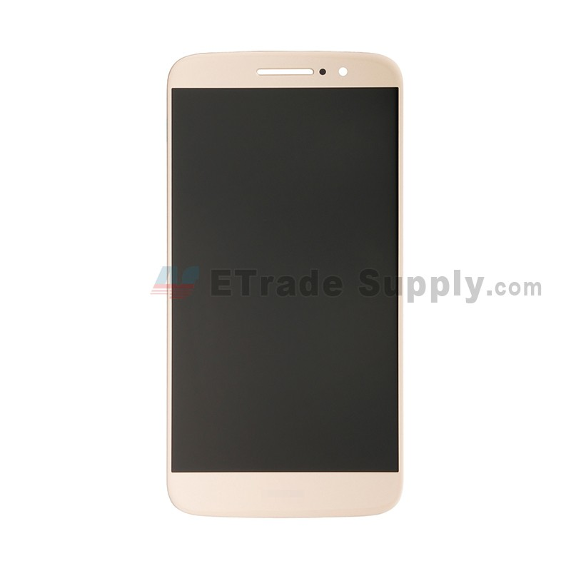 For Motorola Moto M XT1663 LCD Screen and Digitizer Assembly Replacement -  Gold - With Logo - Grade S+