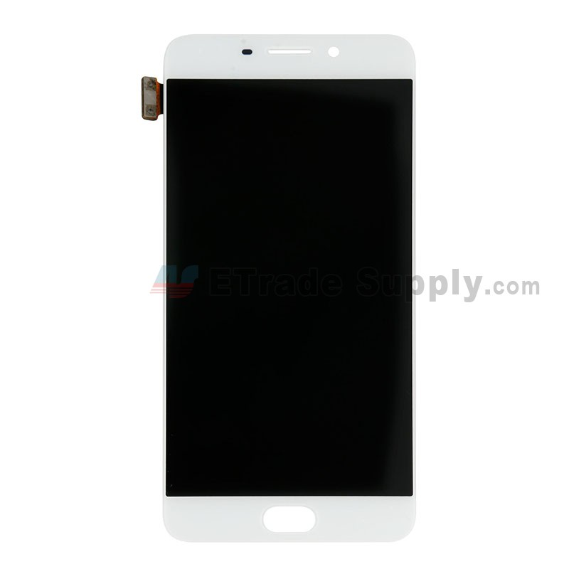 Color : White Nobrand ZHENGGOU for LCD Screen LCD Screen and Digitizer Full Assembly for Oppo R9 White