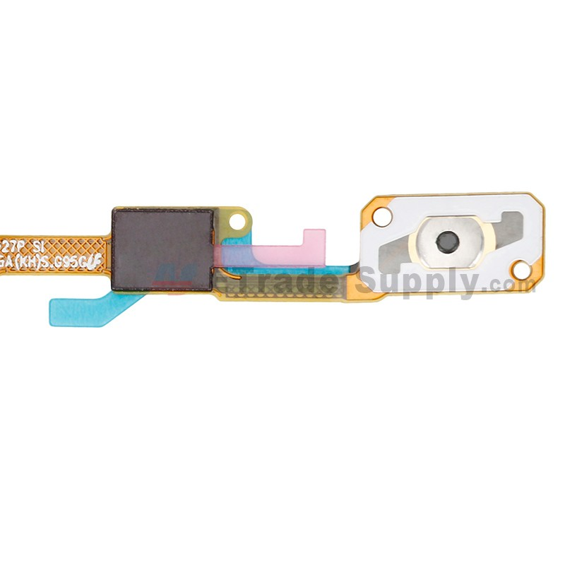 For Samsung Galaxy J3 (2017) SM-J327 Home Button with Earphone Jack Flex  Cable Ribbon Replacement - Grade S+
